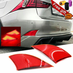 69-SMD Red Bumper Tail Reflector Brake Lights For Lexus IS250 IS350 2014-2019