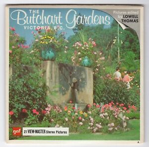 Butchart Gardens Victoria B.C. View-Master Packet A-016 with Factory TEST Reels