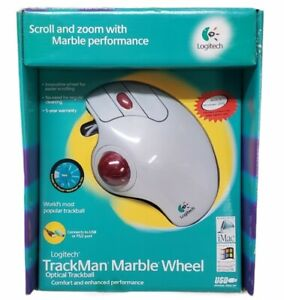 SEALED   Logitech TrackMan Marble Wheel Optical Trackball Mouse PS/2 or USB