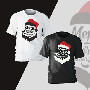 Merry Christmas Santa Claus T-Shirt Present Gifts Funny Kids Mens Unisex Tee