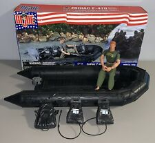 "2002 G.I. JOE Zodiac F-470 CRRC Boat w/12"" Army Ranger Figure in Box Hasbro"