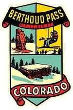 Berthoud Pass Colorado Snow Skiing      Vintage Looking  Sticker   Decal   Label