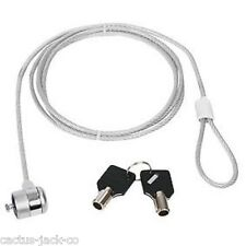 NEW NOTEBOOK UNIVERSAL SECURITY CABLE & KENSINGTON LOCK FOR LAPTOP, SCREEN, ETC