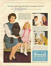 1946 Vintage ad for Servel Gas Refrigerator~Jane Wyman (080313)