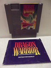 NINTENDO NES DRAGON WARRIOR 1 GAME CARTRIDGE & MANUAL CLEANED & TESTED