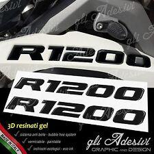 2 Adhésifs de Réservoir Moto BMW R 1200 GS Adventure LC 245 X 25 cm 3D Noir
