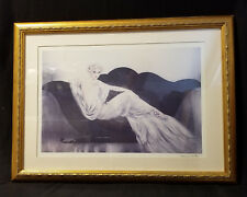 """Le Sofa"" by French Artist Louis Icart: Dry Point Etching - Signed"