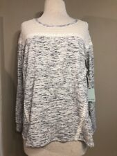 NEW Dept 222 Womens Long Sleeve Gray Static Top Shirt Plus size 3X $52