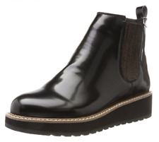 Pepe Jeans Ramsy Chelsea Womens EU 40 Black Patent Faux Leather New Ankle Boots