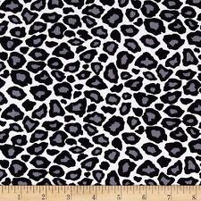 Cool Cords Snow Leopard Animal Print Fine Wale Corduroy Robert Kaufman Bfab