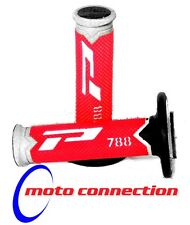 PRO GRIP 788 RED/BLACK/WHITE TRIPLE DENSITY GRIPS HONDA CRF250/450 CR125/250