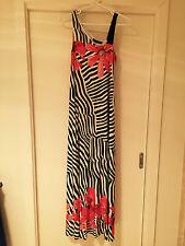 Size 8 A Pea in a Pod maxi maternity dress. Black & white