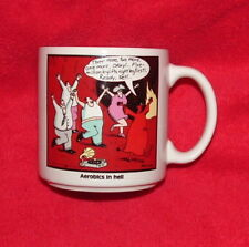 Aerobics In Hell Mug Cup The Far Side Gary Larson 1984 Nice