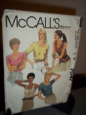 McCall's #7047 Sewing Pattern Misses Blouse Size C 16  Uncut Factory Folded
