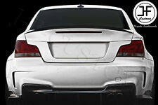 FOR BMW 1 SERIES E82 COUPE 07-13 REAL CARBON FIBER P TYPE BOOT LID SPOILER LIP