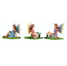 Fairy Garden Mini - Sun Kissed Fairies on Leaf- Set of 3