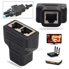 RJ45 Splitter Adapter 1to 2 Dual Female CAT5/CAT 6 LAN Ethernet Sockt for TV Box