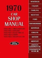 Ford Service Workshop Manual Book 1970 70 Falcon Fairlane Maverick Thunderbird