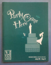 PARTY COME HERE Souvenir Program (2007) Hunter Foster (Williamstown)