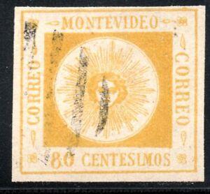 10/179.URUGUAY.1859-1860 80 c.