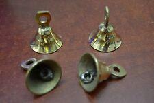 """4 Pcs Handmade Cow Goat Sheep Solid Brass Bells 1 1/2"""" #T-218"""