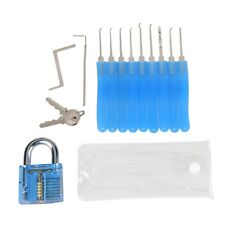 11pcs Practice Lock Pick Picking Tool Kit Padlock Locksmith Unlocking Tool Set