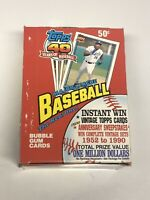 1991 Topps Baseball 36 Count Pack WAX BOX from SEALED CASE 40th Anniversary RARE