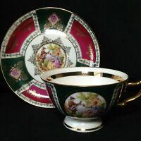 "Fragonard ""Love Story Courting Couple"" Germany Porcelain Tea Cup & Saucer #209"