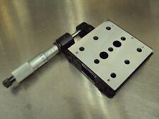 NRC NEWPORT 420 LINEAR POSITIONER W/ NEW STARRETT 25mm MICROMETER