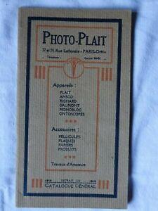 Catalogue général PHOTO-PLAIT 1919