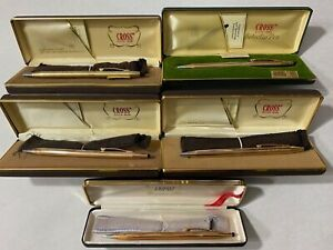 Vintage Lot of Gold Filled CROSS Pens