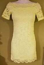 Dress by divided H&M line green lace off the shoulder in a size 4