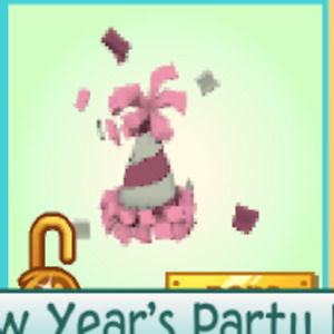 Animal Jam Pink Party Hat (QUICK DELIVERY) (Rare) (Description)