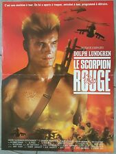Affiche LE SCORPION ROUGE Red Scorpion DOLPH LUNDGREN Joseph Zito 40x60cm *