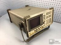 8591C HP AGILENT CABLE TV ANALYZER 1 MHZ TO 1.8 GHZ OPTION 107 FOR REPAIR/PARTS