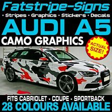 AUDI A5 CAMO GRAPHICS STRIPES STICKERS DECALS CAB COUPE SPORTBACK S5 RS5 S-LINE