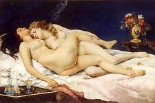 Courbet Sleep 1866 Erotic Art Nudes 12x8 Inch Print