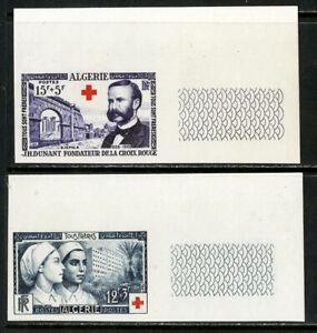 Algeria Stamps # B74-5 XF OG LH Imperfs