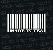made in usa bar code vinyl decal car window sticker car graphics