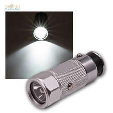 LED Taschenlampe aufladbar am Zigarettenanzünder Auto PKW 12V, Aluminium-Lampe