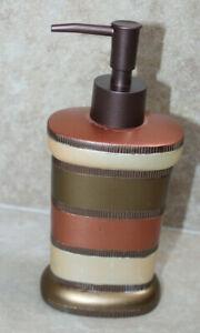 Popular Bath Contempo Stripe Lotion Pump ~ GUC