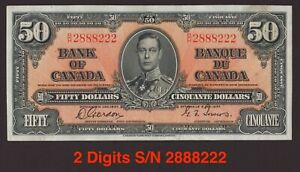 Canada 🇨🇦1937 - $50 Gordon|Towers S/N 2888222 - EF+ to A-UNC