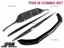 W205 C300 C400 AMG 15-17 JP type Carbon Front Lip & Diffuser Cover & Side Skirts