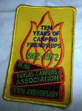 Vtg Kansas Campers Association 10 Years of Camping Friendships 1962-72 NCHA Good