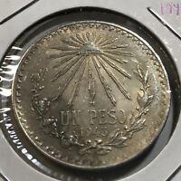 MEXICO 1943 SILVER PESO HIGH GRADE BEAUTIFUL  COIN
