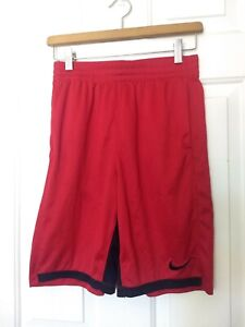 Nike Dri Fit Red Elastic-Waist Basketball Shorts Size Youth XL