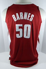 Alabama Crimson Tide Barnes #50 Game Used Red Jersey