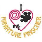 I Heart My Miniature Pinscher Ladies Short-Sleeved T-Shirt 1417-2 Size S - XXL