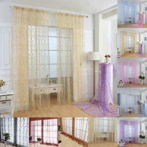 Voile Curtains Panel Lucy Slot Top Morocco Curtain Top Quality - Net & Voile