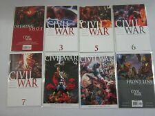 Civil War comic lot + Newspaper + Poster 32 different issues avg 8.0 VF